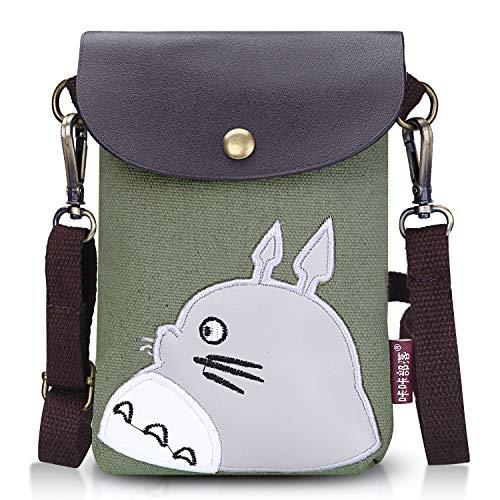 Double Villages Crossbody Totoro Taschen Segeltuch Klein Niedlich Zelle Brieftasche Tasche...