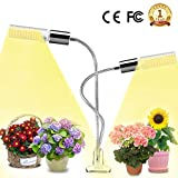 LED Plant Grow Light for Indoor Plants- 45W Full Spectrum Sunlike Replacement Bulbs Plant Light with Double Switch - 360 Degree Dual Head Flexible Gooseneck Grow Lamps …