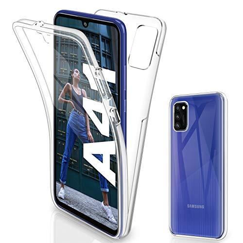 Gnews für Samsung Galaxy A41 Hülle, für Samsung Galaxy A41 Schutzhülle 360 Grad Full Body Front Und Rückenschutz Handyhülle Transparent Durchsichtige Bumper für Samsung Galaxy A41