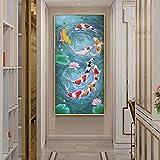 WTYBGDAN Koi Fisch Feng Shui Karpfen Lotus Teich Bilder