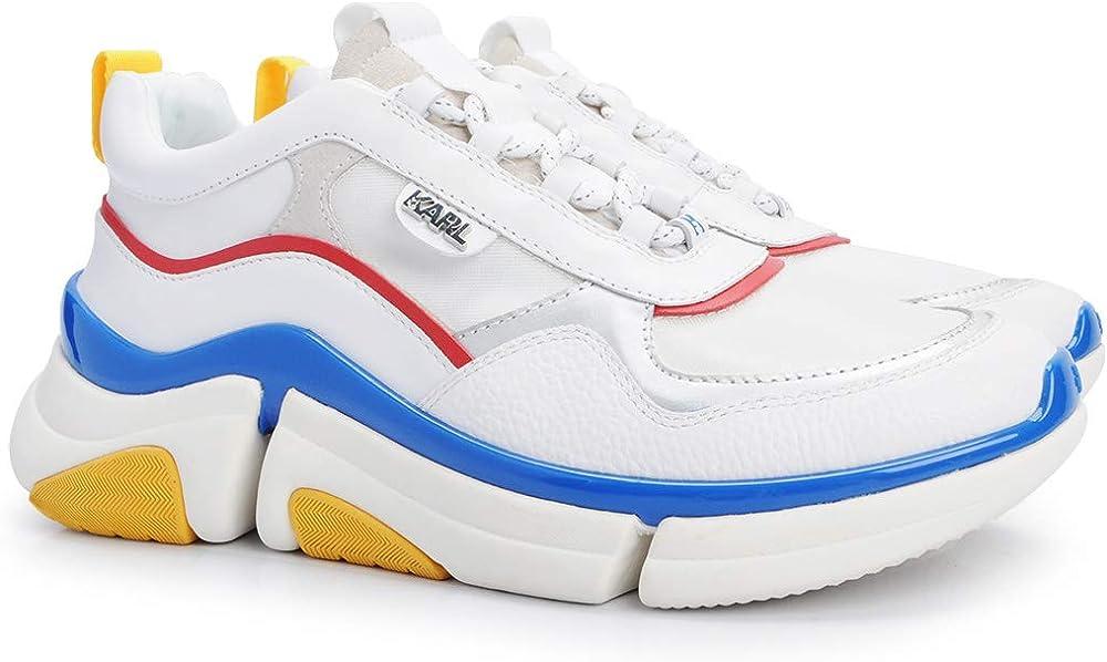 Karl lagerfeld venture,scarpe  sneakers  per uomo,in pelle e pelle scamosciata,numero 42 KL51721