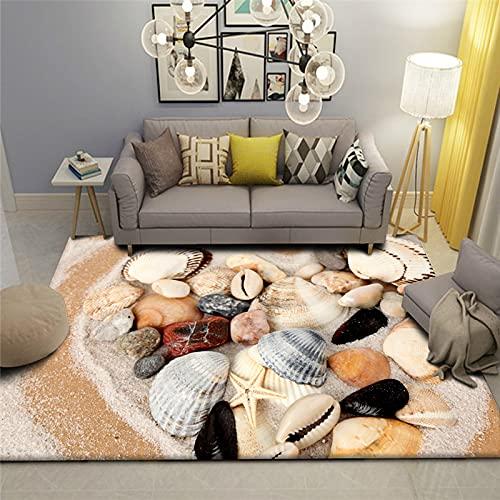 Alfombra Moderna Y Sencilla De Estilo Playero Gruesa Impermeable Y A Prueba De Aceite Adecuada para El Pasillo De La Sala De Estar del Dormitorio