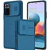 IEMY Funda para Xiaomi Redmi Note 10 Pro 4G Deslizante Cámara Proteger Protección cámara Carcasa Cubierta Ultra Delgado Estuche Híbrida PC Anti Choque Anti Arañazos - Azul