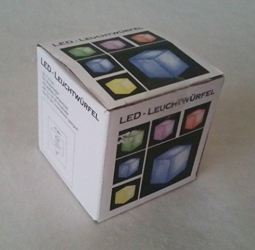 Cepewa 26885 lED-highlights cube lumineux à couleurs changeantes-cube lampe cube : env. 7 x 7 cm