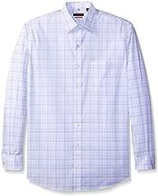 Van Heusen Men's Big and Tall Traveler Non Iron Stretch Long Sleeve Shirt, Blue Chambray Blue, 3X-Large Big