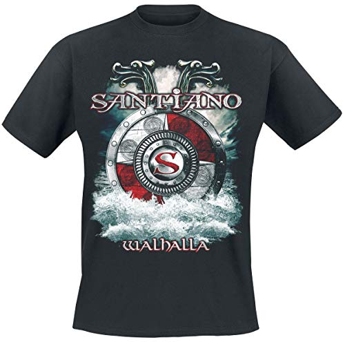 SANTIANO Walhalla Männer T-Shirt schwarz XXL 100% Baumwolle Bands, Mittelalter