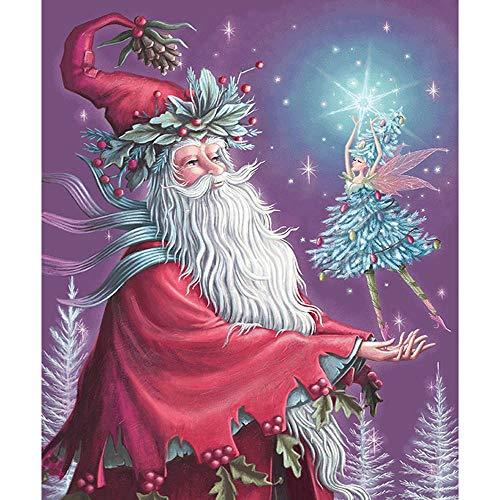 LZQZJD Adultos 500 Piezas Rompecabezas de Madera Papá Noel Bailando Elf Familia decoración de la Pared Juguetes para niños