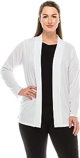 Jostar Women's Stretchy Drape Jacket Long Sleeve No Shoulder Pad Plus