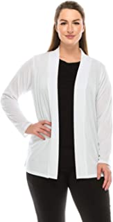 Jostar Women's Stretchy Drape Jacket Long Sleeve No Shoulder Pad Plus