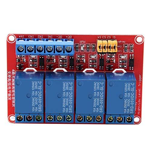 Módulo de relé de 4 canales, módulo de relé optoacoplador, módulo de disparo alto y bajo para Arduino 5V/12V/24V(12V)