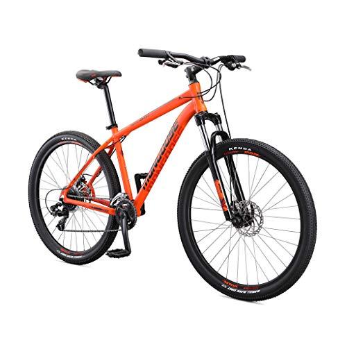Mongoose Switchback Sport Adult Mountain Bike, 8 Speeds, 27.5-inch Wheels, Mens Aluminum Large Frame, Orange