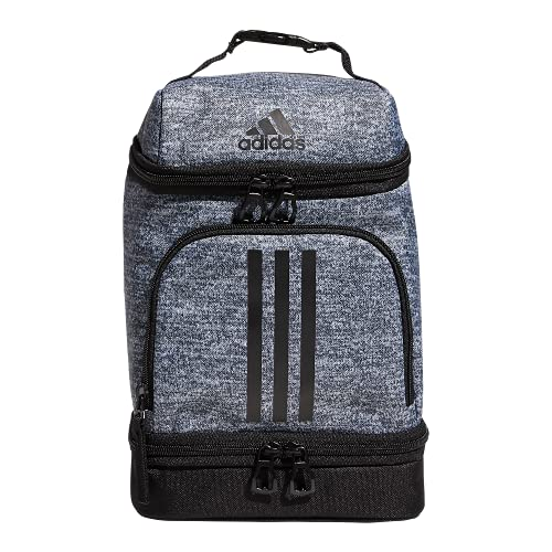 adidas Excel 2 Insulated Lunch Bag, Jersey Onix Grey/Black, One...