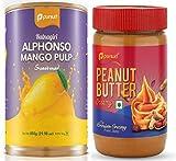 Ratnagiri Alphonso Mango Pulp (850 g) & Cremay Peanut Butter (510 g) Combo