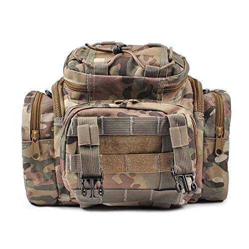 Fishing Tackle Bag Should Pack Waist Bag Water Resistant 900D Heavy Duty Soft Sided Carry Strap...