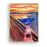 hetingyue Gritos sin Marco Home Run Screams Canvas Art Print Cartel de la Pared Fotos Decoración del hogar 40x60CM