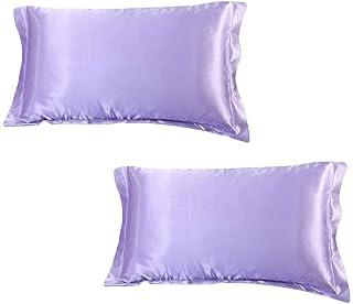 DEHMAN Silk 400 TC Pillow Cover (King_Purple)