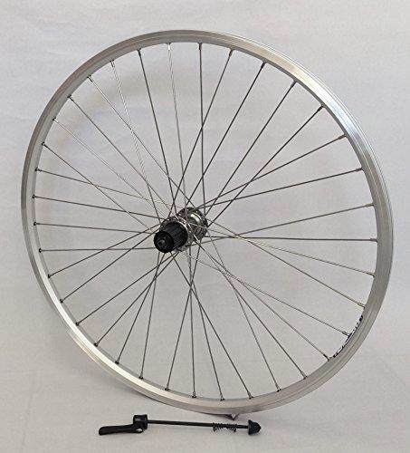 Vuelta 28 Zoll Fahrrad Laufrad Hinterrad Hohlkammerfelge Cut 19 Shimano Deore 610 Silber 8/9/10-fach für V-Brakes/Felgenbremse