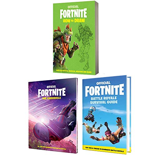 Price comparison product image Fortnite Official Books Collection 3 Books Set By Epic Games (How to Draw,  The Chronicle,  The Battle Royale Survival Guide)