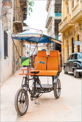 Posterlounge Cuadro de metacrilato 60 x 90 cm: Cuban Taxi Bicycle de Editors Choice