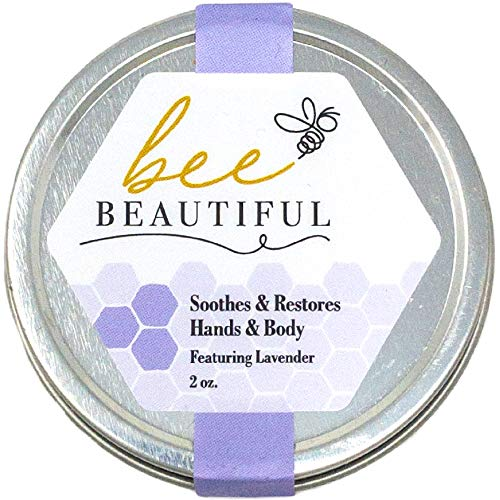 Bee Beautiful 100% Natural Intense Moisturize/Balm-Made with Beeswax- Restores & Repairs Skin - Zero Fillers - Featuring Lavender Essential Oil - Proudly Made in The USA, Women-Owned, Beekeepers