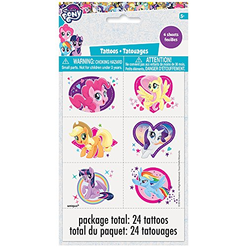 Unique Industries My Little Pony Temporary Tattoos, 24ct