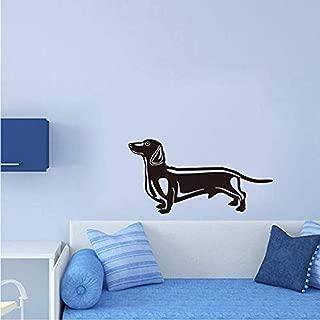 gykjf Wall Sticker Cute Sausage Dog Vinyl Bedroom Wallpaper Kids Room Flower Cute Puppy Home Decor Pet Shop Sticker
