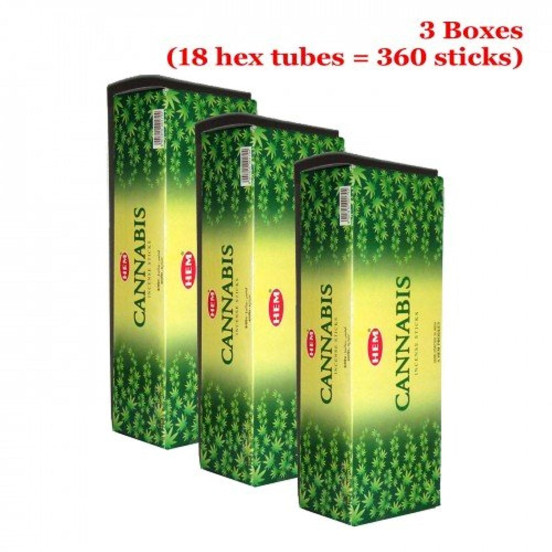 Hem Cannabis 360一括Incense Sticks、3ボックス?–?( 360?Sticksバルクper order )