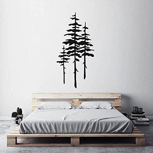 wopiaol groot formaat dennenboom muursticker huisdecoratie voor woonkamer Vinyl boom muurstickers slaapkamer verwijderbare zelfklevende muurschilderingen