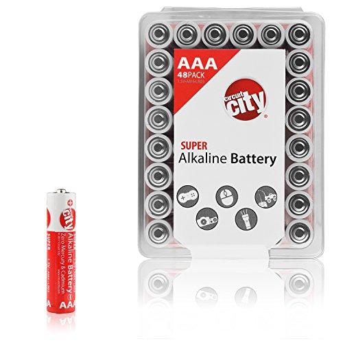 Essential Circuit City AAA High Performance Alkaline Batteries (48 Pack)
