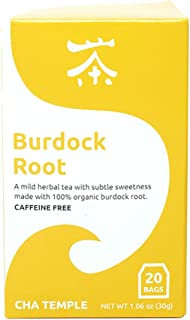 Organic Burdock Root Tea - 20 Tea Bags , Caffeine Free, All Natural, Antioxidant Rich, Anti-Inflammatory, Supports Digestion and Detoxification of the body