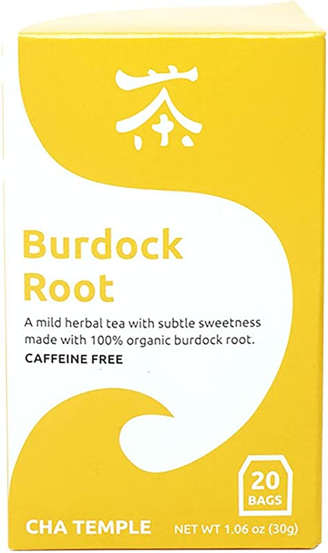 Organic Burdock Root Tea 20 Tea Bags Caffeine Free All Natural Antioxidant Rich Anti Inflammatory Supports Digestion And Detoxification Of The Body