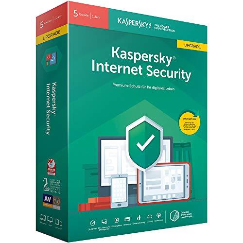 Kaspersky Internet Security 5 Geräte Upgrade (Code in a Box). Für Windows 7/8/10/MAC/Android