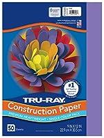 Tru-Ray Construction Paper, 76 lbs., 9 x 12, Violet, 50 Sheets/Pack (並行輸入品)