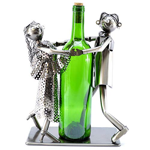 Tango Dancers Metal Wine Bottle Holder