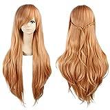Cosplay Wigs Sword Art Online Yuuki Asuna Long Brown Blonde Halloween Party Anime Hair