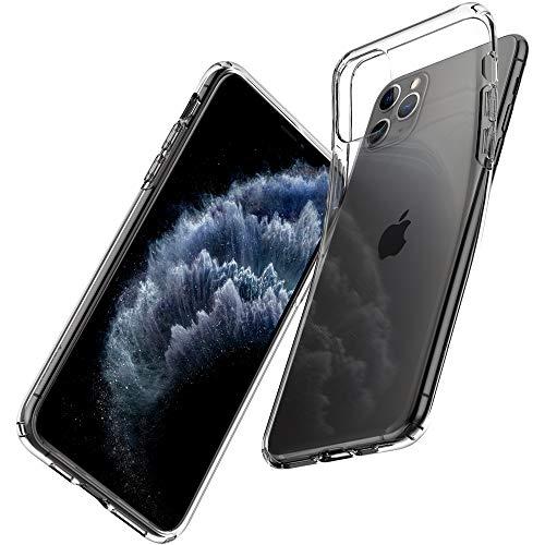 Spigen Liquid Crystal Kompatibel mit iPhone 11 Pro Max Hülle, [Anti-Gelb] Transparent TPU Silikon Handyhülle für iPhone 11 Pro Max Hülle Crystal Clear 075CS27129