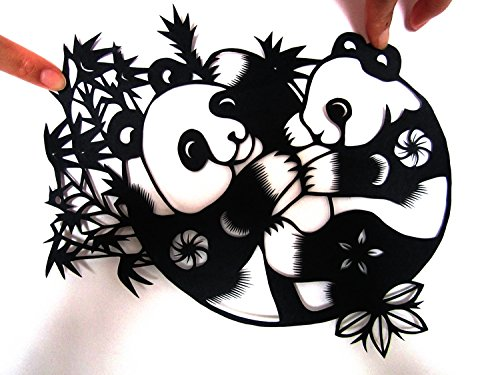 David Panda Chinese Characteristics Gifts Handmade Paper-cut Art Paper-cut Window