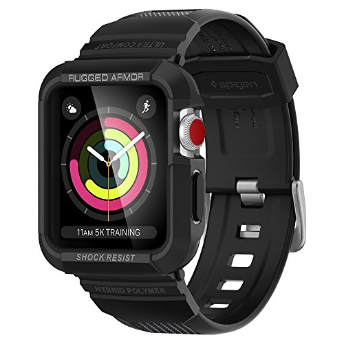 Spigen Rugged Armor Pro Compatible con Apple Watch Funda para 42mm Serie 3/2/1/Original (2015) - Negro