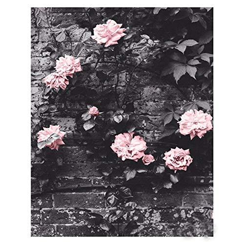 Puzzle 1000 Piezas Jardín de Flores de Rosa Rosa Puzzle 1000 Piezas educa Juego de Habilidad para Toda la Familia, Colorido Juego de ubicación.50x75cm(20x30inch)