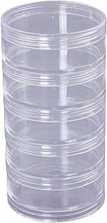 SUPVOX Caja de almacenamiento de 5 capas Contenedores de almacenamiento de perlas Cilindro de plástico duradero Caja de al...