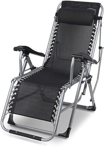 Hxx Chaise Longue Pliante portative extérieure, Chaise Longue réglable de gravité zéro avec Appui Lourd détachable fardeau 200kg