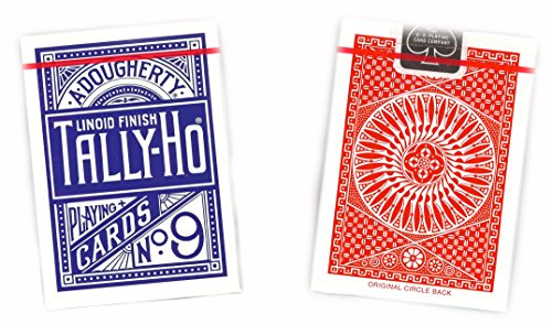 US Playing Card Company - Paket von 12 Pokerkarten -TALLY-HO Circle