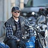 Hitdudu Low Profile Harley Chopper Motorcycle Half Helmet - Small and Light DOT Approved Skull Cap (M)