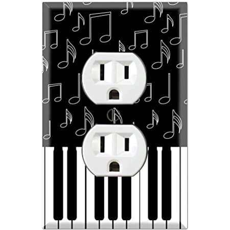 Graphics Wallplates I Love Piano Duplex Outlet Wall Plate Cover