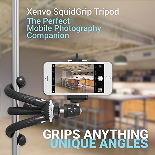 Product Image 4: Xenvo SquidGrip Flexible Cell Phone Tripod and Portable Action Camera Holder – Compatible with iPhone, GoPro, Android, Samsung, Google Pixel and All Mobile Phones