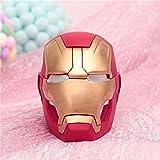 HIL Creativo Vengadores Divertido Perro Hucha, Hucha Iron Man Cenicero, La Decoración del Hogar Decoración De La Resina del Regalo De Cumpleaños, Rojo