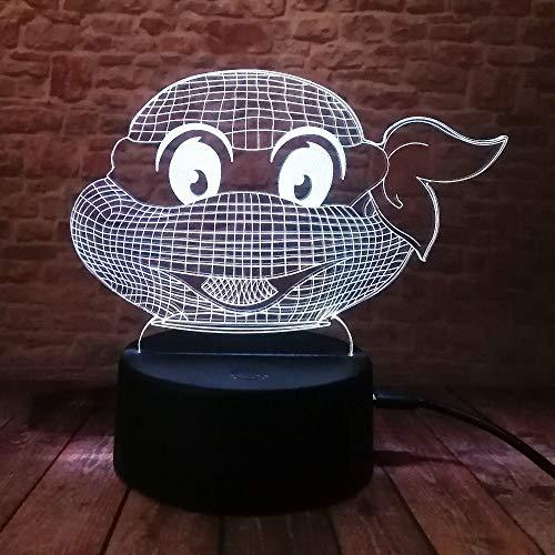 WangZJ 3d Led Nachtlicht/mädchen Prinzessin Geschenk/Weihnachten Dekorative / 7 Farbe Cartoon Spielzeug/geburtstag/kinder Geschenk/Ninja Turtles