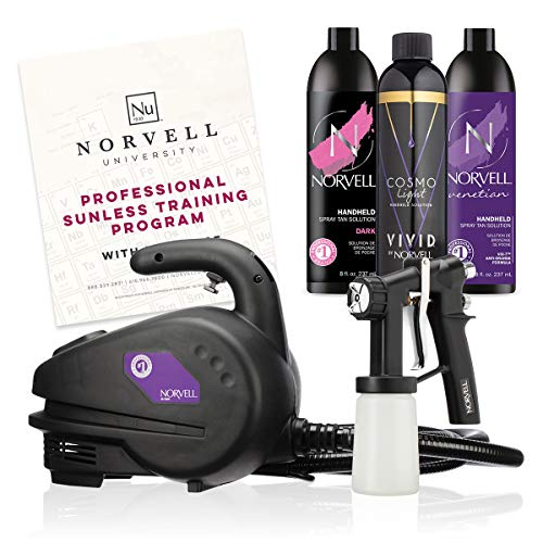 Norvell Sunless Kit - M1000 Mobile HVLP Spray Tan Airbrush Machine Review
