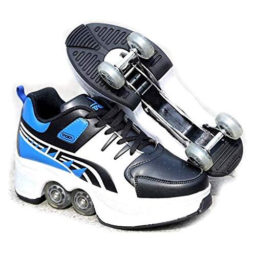 NOBRAND Vervormd Wiel 2 In 1 Vervorming Roller Schoenen Schaatsen Multifunctionele Verstelbare Onzichtbare Pulley Skates Dubbele Rij Volwassen Kinderen Sport Spelletjes