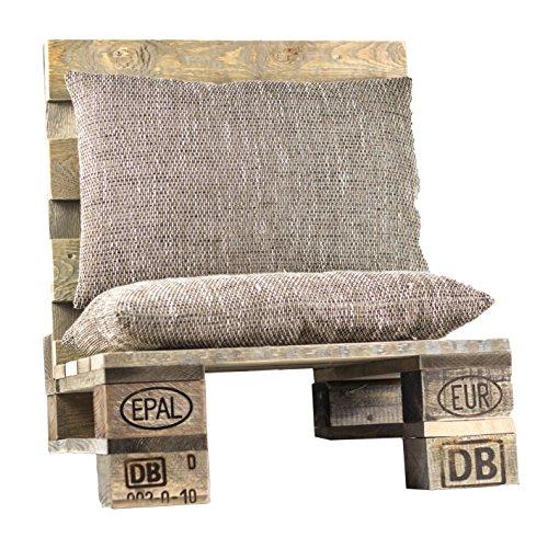 Palettenmöbel Lounge-Sitz NISSI, Neuholz gebeizt in klassischer Paletten Optik, jedes Teil ist einzigartig und Wird in Deutschland in Handarbeit gefertigt